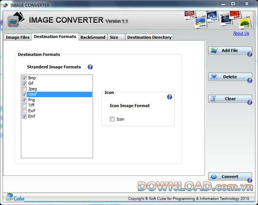 SoftCube Image Converter 1.1 - Konvertieren zwischen Bildformaten