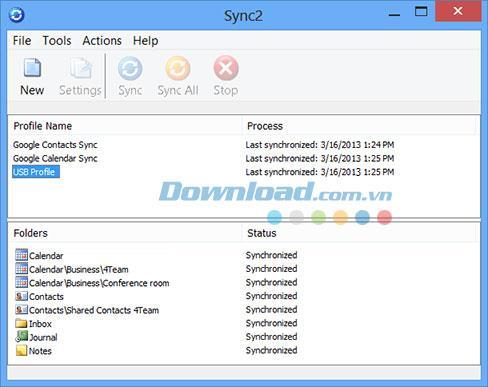 Sync2 2.41.2436-MSOutlookのバックアップおよび同期ユーティリティ
