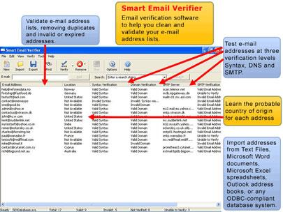 Smart Email Verifier 3.51 - E-Mail-Authentifizierungssoftware