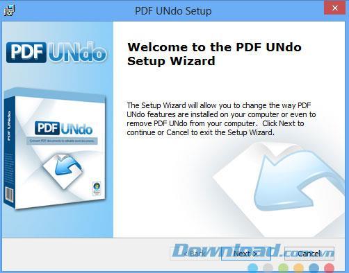 PDF UNdo1.0-PDFファイルをWordに変換する