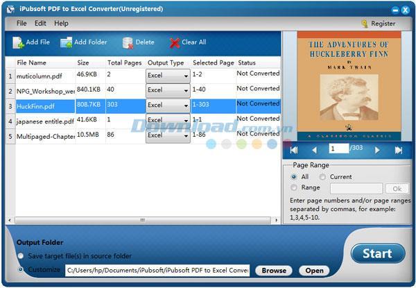 iPubsoft PDF to Excel Converter2.1.4-PDFをExcelに変換