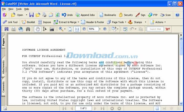 CutePDF Writer4.0-テキストドキュメントをPDFに変換