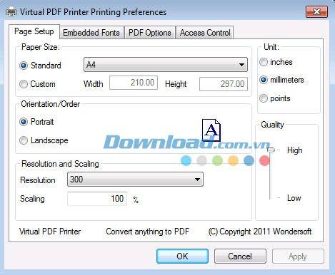 Virtual PDF Printer3.0-ドキュメントと画像をPDF形式に変換します
