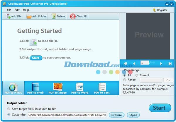 Coolmuster PDF Converter Pro2.1.4-PDFを別の形式に変換する