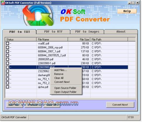 OKSoft PDF Converter1.12-PDFをテキストに変換する