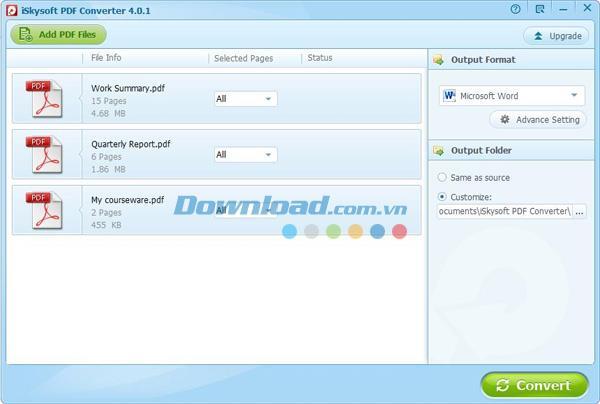 iSkysoft PDF Converter4.0.1-PDF形式への変換