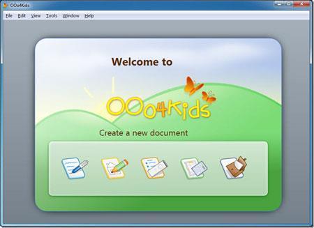 OOo4kids1.3-子供向けのテキスト編集ソフトウェア