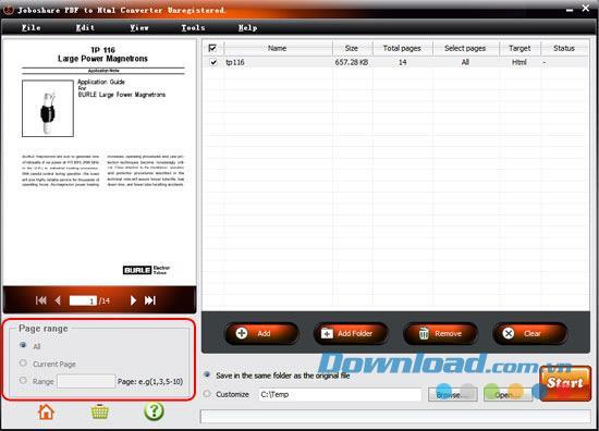 Joboshare PDF to Html Converter1.1.0-PDFをHTMLにすばやく変換