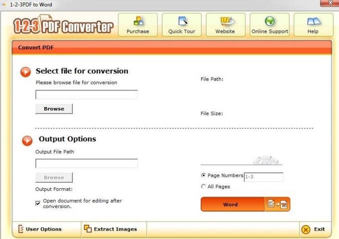 1-2-3PDFConverter4.1-便利なPDFファイルを変換するソフトウェア
