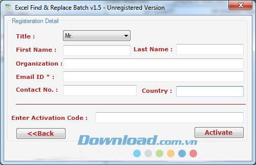 Excel検索および置換バッチ1.5-Excelで単語を検索および置換