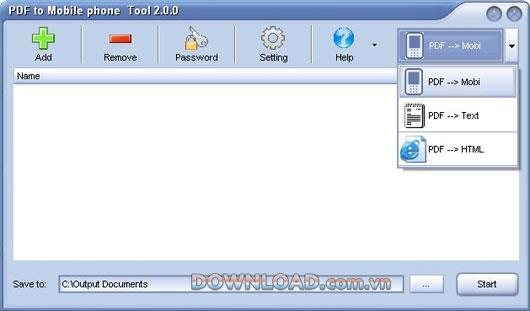 PDF to Mobile Phone Tool 2.1.0 - Konvertieren Sie PDF in ein Mobiltelefon