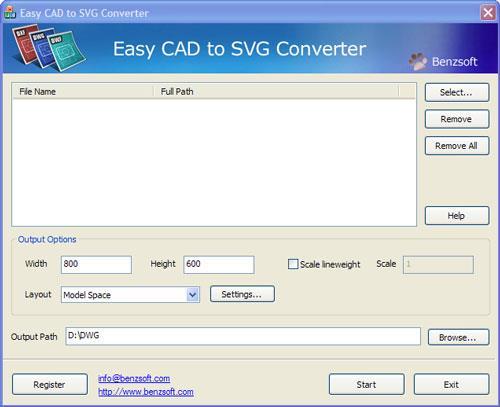 Easy CAD to SVG Converter 3.01 Build 123 - CAD in SVG konvertieren