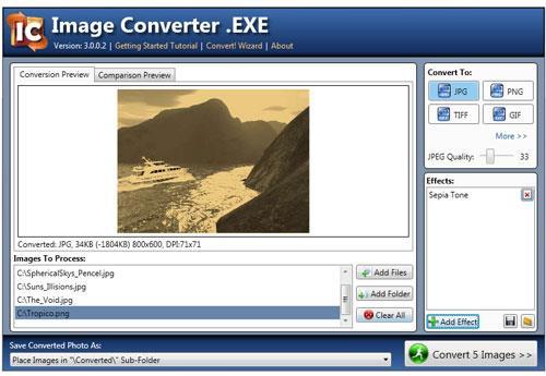 Bildkonverter .EXE - Konvertieren Sie Bilder mit einem Klick