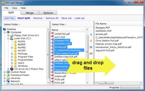 FrameworkTeamPDF分割マージ-PDF画像を分割して結合します