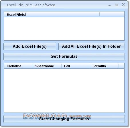 Excel EditFormulasソフトウェア-Excelで数式を変更する