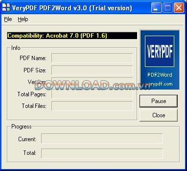 VeryPDFPDFからWordへ-PDFをWordに変換