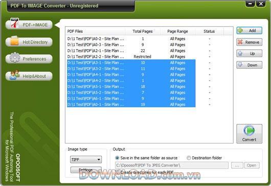 OpooSoftPDFから画像へのコンバーター-PDFを画像に変換