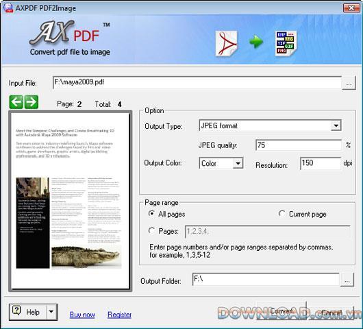 AXPDF PDF to ImageConverter-PDFを画像に変換