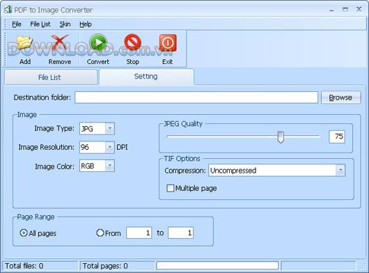 PDF to Image Converter - Konvertiert eine PDF-Datei in ein Bildformat