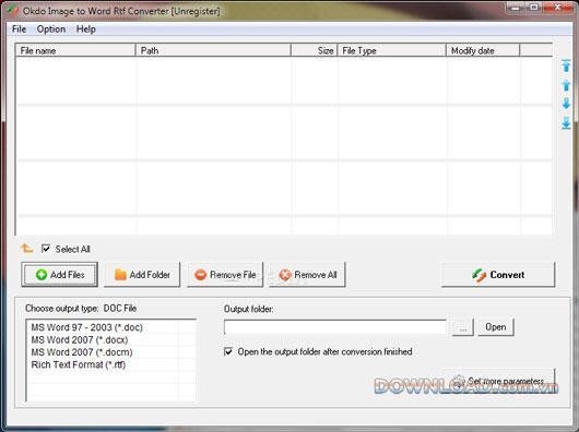 Okdo Image to Word RtfConverter-画像をWordRtfに変換します