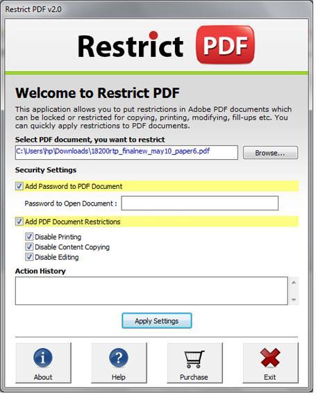 PDFファイルを保護する