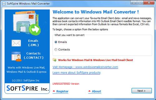 SoftSpire OutlookExpressからWindowsLiveメールへ