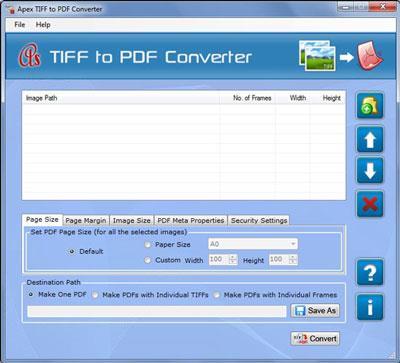 ApexTIFFからPDFへのコンバーター