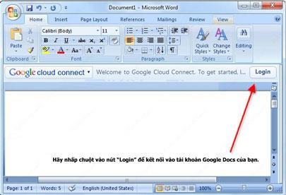 MicrosoftOffice用のGoogleCloud Connect