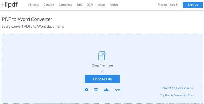 PDF to WordConverter-PDFファイルをWordに変換します