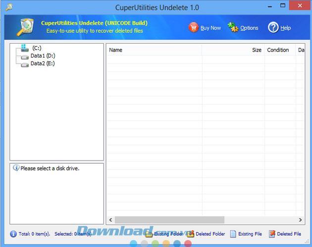 CuperUtilities Undelete 1.0 - Datenwiederherstellungstool
