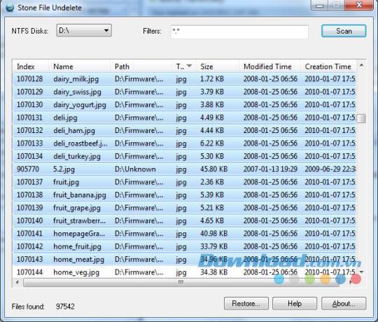 Stone File Undelete 1.2.186 - Gelöschte Daten wiederherstellen