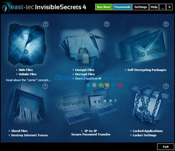 east-tec InvisibleSecrets 4.8 - Professionelles Tool zum Verschlüsseln und Ausblenden von Dateien