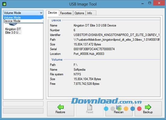 USB Image Tool 1.61 - Sichern und Wiederherstellen von Daten auf einem USB-Laufwerk