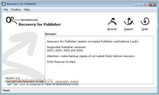 Wiederherstellung für Publisher - Daten in Microsoft Publisher wiederherstellen