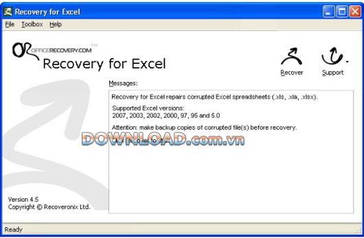 Wiederherstellung für Excel - Wiederherstellen beschädigter Excel-Tabellen