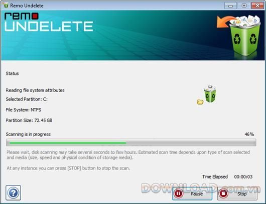 Remo Undelete 5.0.0.34 - Gelöschte Dateien von Festplatten und USB-Laufwerken wiederherstellen