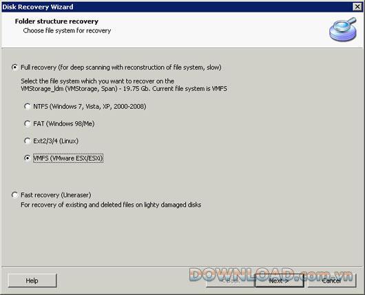 DiskInternals VMFS Recovery - Daten wiederherstellen