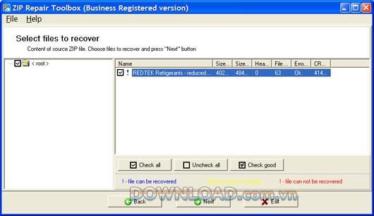 Zip Repair Toolbox - Stellen Sie Dateien aus WinZip-Archiven wieder her