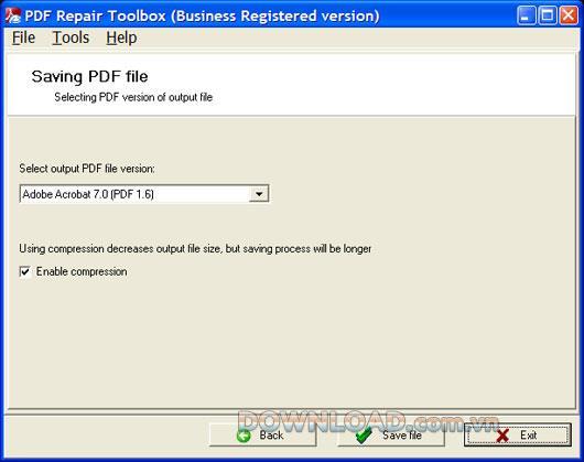 PDF Repair Toolbox - Daten in PDF-Dateien wiederherstellen