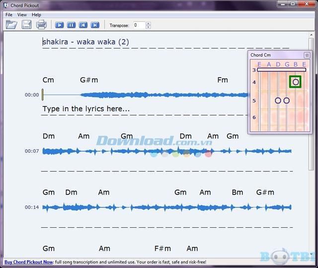 Chord Pickout 3.0 - Software zur Analyse digitaler Musik