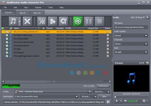 MediAvatar Audio Converter Pro 7.7.3 - Professionelle Audio-Konvertierungsanwendung
