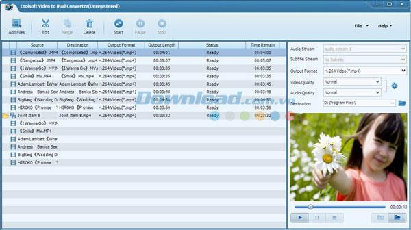 Enolsoft Video to iPad Converter 3.6 - Software zum Konvertieren von Videos auf das iPad