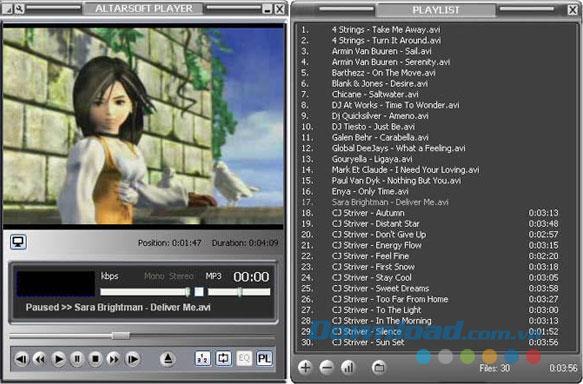 Altarsoft Player1.4-コンパクトなビデオプレーヤー