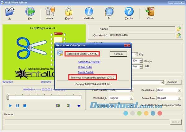 Allok Video Splitter 3.1.0609 - Video-Splitting-Tool