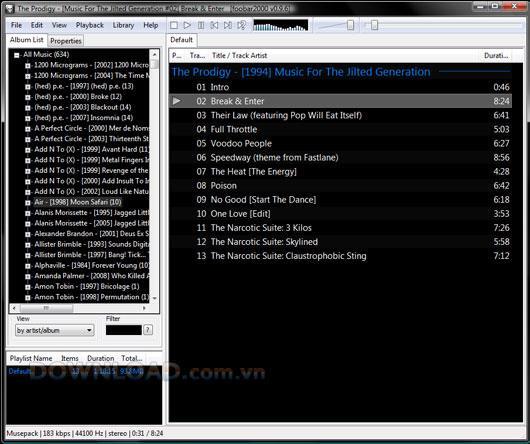 foobar2000 1.6 - Kostenloses, multifunktionales Dienstprogramm zur Musikverwaltung und zum Hören
