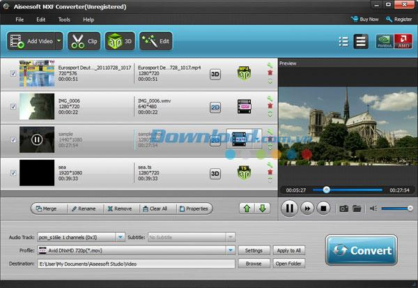 Aiseesoft MXF Converter - Konvertiert MXF in andere Formate