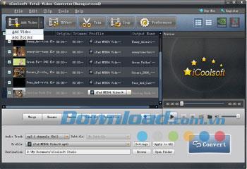 iCoolsoft Total Video Converter - Videokonvertierungssoftware