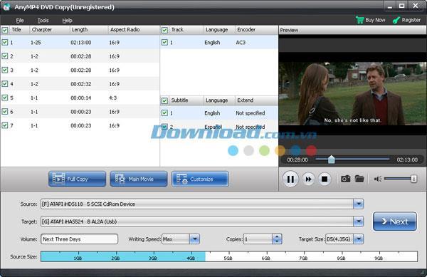 AnyMP4 DVD Copy 3.1.8 - Kopieren Sie DVDs einfach