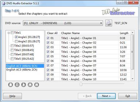DVD Audio Extractor 7.1.2 - Software zum Rippen von Musik