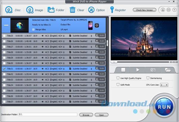 WinX DVD zu iPhone Ripper 5.0.1 - Konvertieren Sie DVD zu iPhone